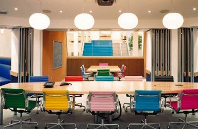 Colorful office space trends